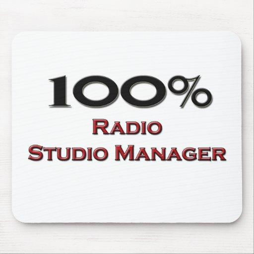 Encargado de radio del estudio del 100 por ciento alfombrillas de ratón