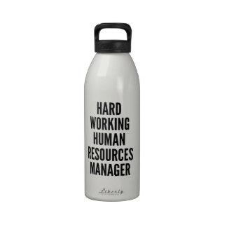 Encargado de recursos humanos de trabajo duro botella de beber