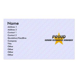 Encargado de recursos humanos orgulloso plantillas de tarjetas personales