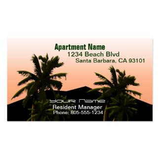 Encargado del apartamento tarjeta de visita