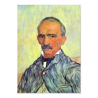 """Encargado del asilo loco, San Pablo de Van Gogh Invitación 5"""" X 7"""""""