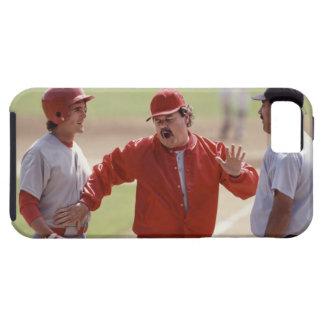 Encargado del béisbol que discute con el árbitro y funda para iPhone SE/5/5s