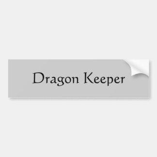 Encargado del dragón pegatina para auto