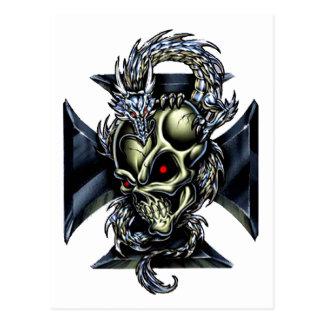 Encargado del dragón tarjeta postal