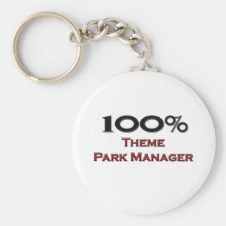 Encargado del parque temático del 100 por ciento llavero redondo tipo pin