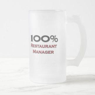 Encargado del restaurante del 100 por ciento tazas de café