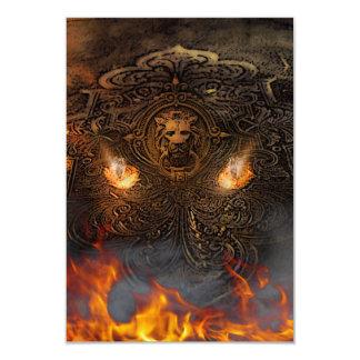 Encargado del secreto del infierno invitación 8,9 x 12,7 cm