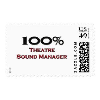 Encargado del sonido del teatro del 100 por ciento franqueo