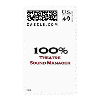 Encargado del sonido del teatro del 100 por ciento sellos