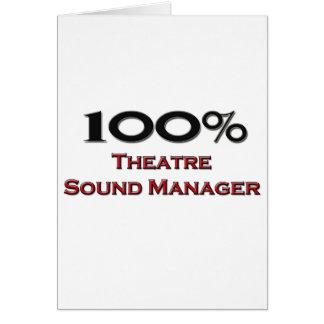 Encargado del sonido del teatro del 100 por ciento tarjeta