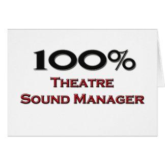 Encargado del sonido del teatro del 100 por ciento felicitación