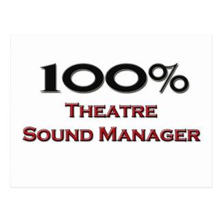 Encargado del sonido del teatro del 100 por ciento postal
