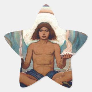 Encargado del umbral de Elihu Vedder Pegatina En Forma De Estrella