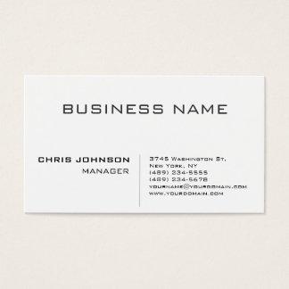 Encargado encantador minimalista llano moderno tarjeta de negocios