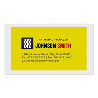 Encargado financiero - blanco amarillo urbano tarjetas de visita