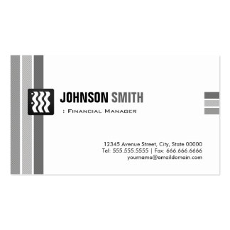 Encargado financiero - blanco negro creativo tarjetas de visita