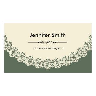 Encargado financiero - cordón elegante retro tarjetas de visita