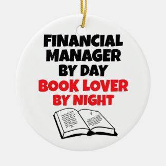 Encargado financiero del aficionado a los libros adorno de navidad