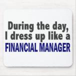 Encargado financiero durante el día alfombrilla de ratones