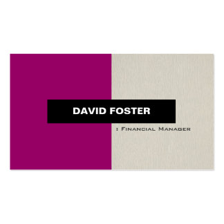 Encargado financiero - elegante elegante simple tarjetas de visita