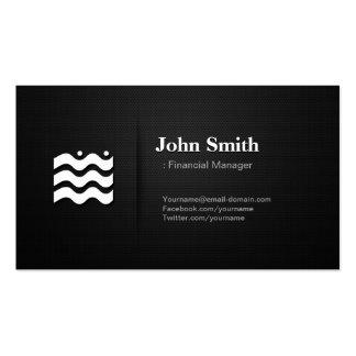 Encargado financiero - icono cambiable superior tarjetas de visita