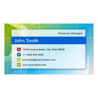 Encargado financiero - multiusos moderno tarjetas de visita