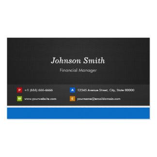 Encargado financiero - personalizable profesional tarjetas de visita