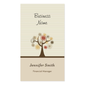 Encargado financiero - tema natural elegante tarjetas de visita