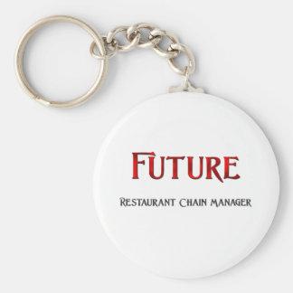 Encargado futuro de la cadena de restaurantes llaveros