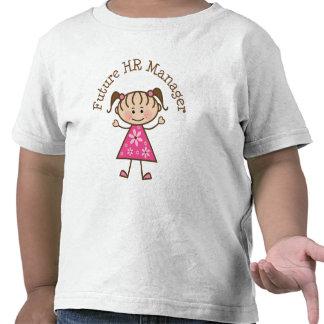 Encargado futuro de la hora (lindo) camisetas