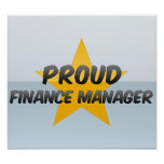 Encargado orgulloso de las finanzas poster