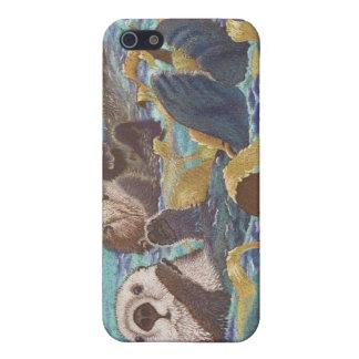 Encargados del quelpo - nutrias de mar iPhone 5 carcasa