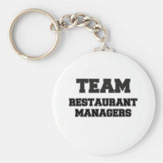 Encargados del restaurante del equipo llaveros personalizados
