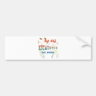 Encaustic Art Bumper Sticker