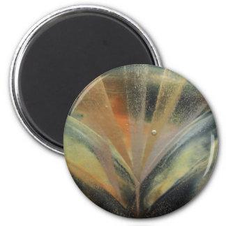 Encaustic black de oro ray imán redondo 5 cm