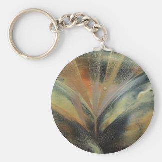 Encaustic black de oro ray llavero redondo tipo pin