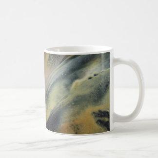Encaustic black de oro ray taza básica blanca