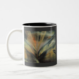 Encaustic black de oro ray taza de dos tonos