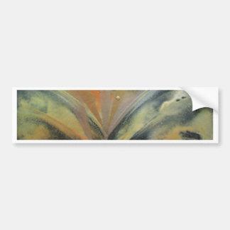 Encaustic black gold ray bumper sticker