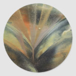 Encaustic black gold ray sticker