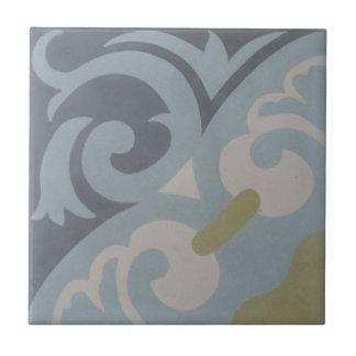 Encaustic Cement Tile on Ceramic --La Espanola