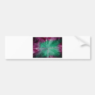 Encaustic green violet waves bumper sticker