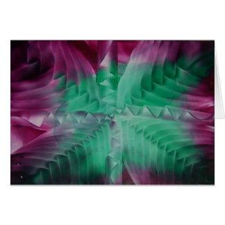 Encaustic green violet waves felicitaciones