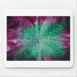 Encaustic green violet waves mauspads