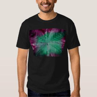 Encaustic green violet waves poleras