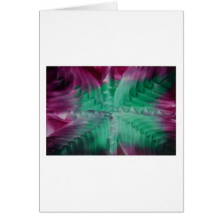 Encaustic green violet waves tarjetas