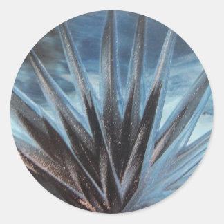 Encaustic Ice - Silver Abstract White Etiqueta