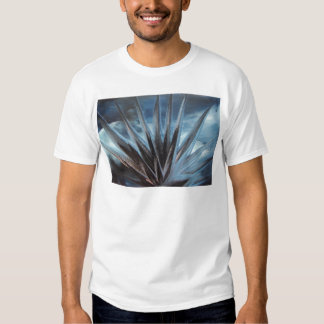 Encaustic Ice - Silver Abstract White Playeras
