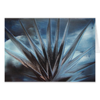 Encaustic Ice - Silver Abstract White Tarjetas