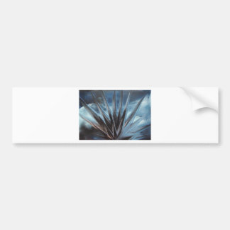 Encaustic Ice - Silver White Abstract Bumper Sticker